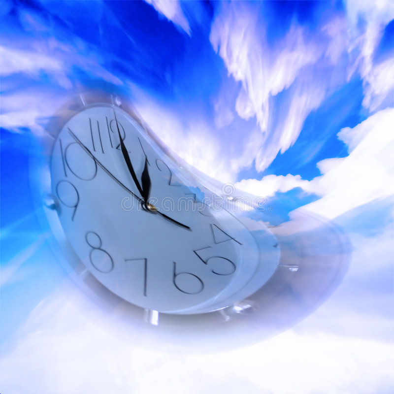 Current time. Abstract scene slow current time vector illustration