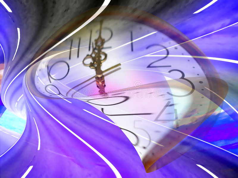 Current time. Abstract scene slow current time stock illustration