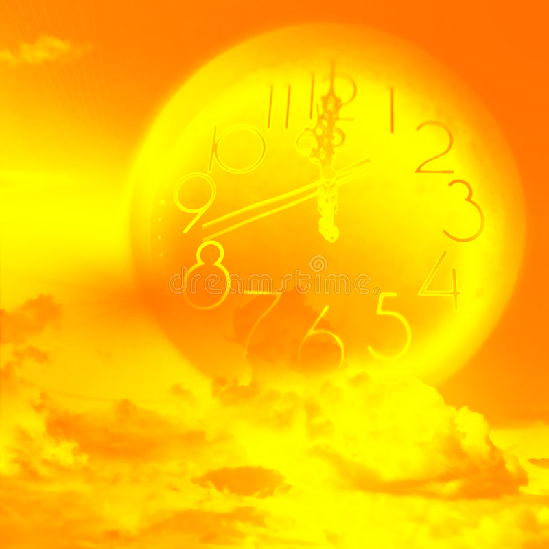 Current time. Abstract scene slow current time royalty free illustration