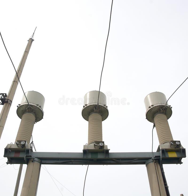 High Voltage Power Transformer Substation. Electrical