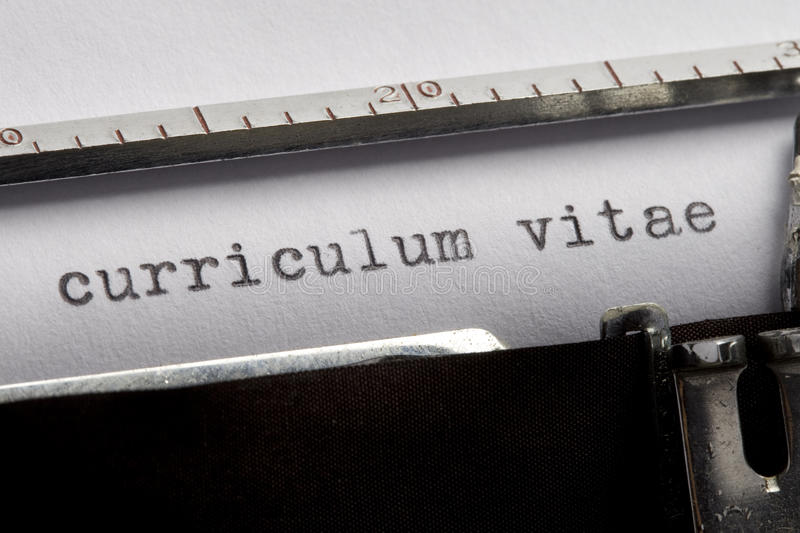 Download Curriculum Vitae stock image. Image of unemployment, search - 10011215