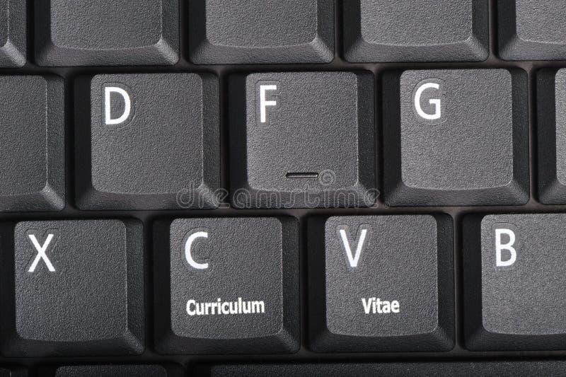 Curriculum vitae imagens de stock