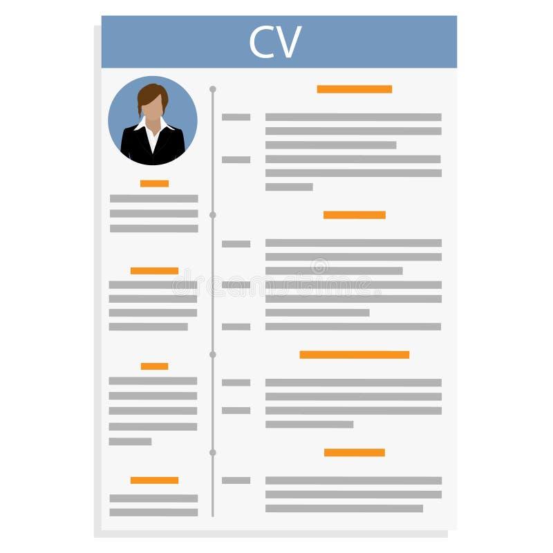 Curriculum vitae vector illustratie