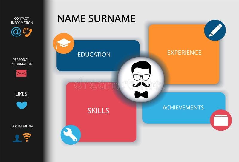 Curriculum vitae Conception créative moderne de résumé illustration stock