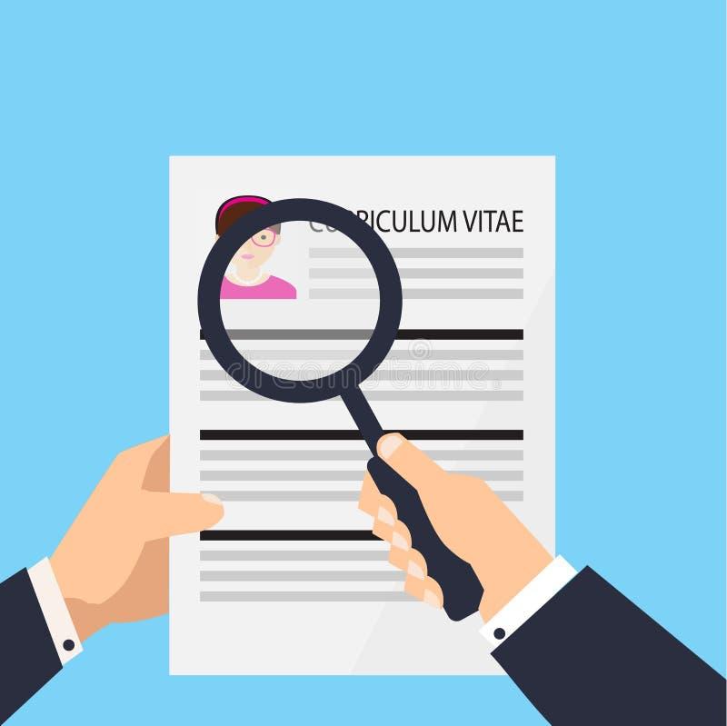 Curriculum Vitae Document Icon. Human Resources Management Or ...