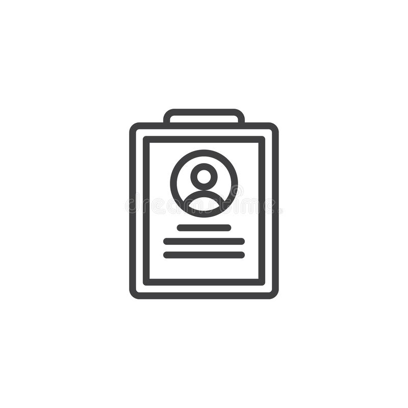 Curriculum vitae-Einstellungslinie Ikone vektor abbildung