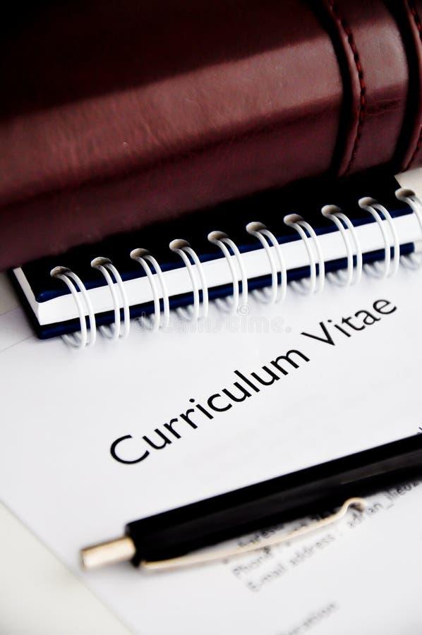 Curriculum vitae o curriculum vitae imágenes de archivo libres de regalías