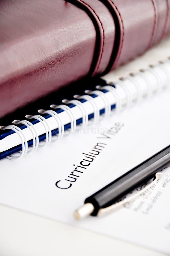 Curriculum vitae ou resumo foto de stock