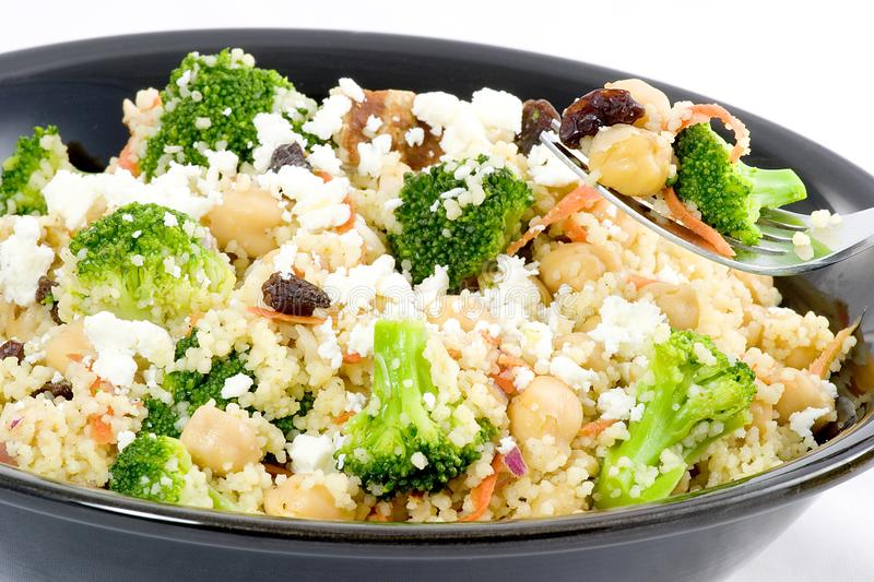 Curried couscous stock photo