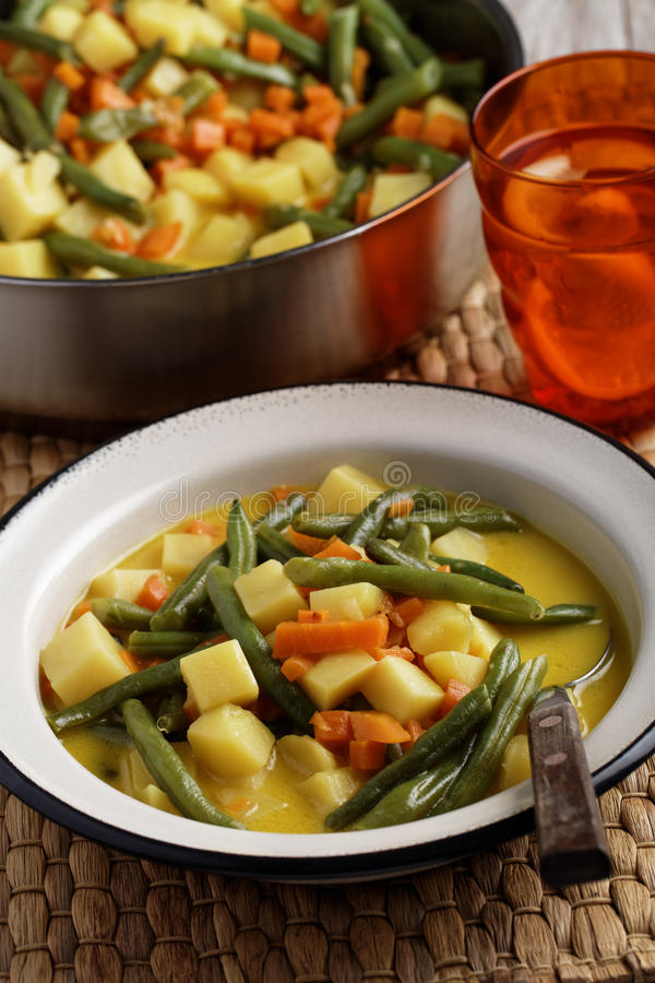 Download Curried green beans stock image. Image of enamel, curried - 93286829