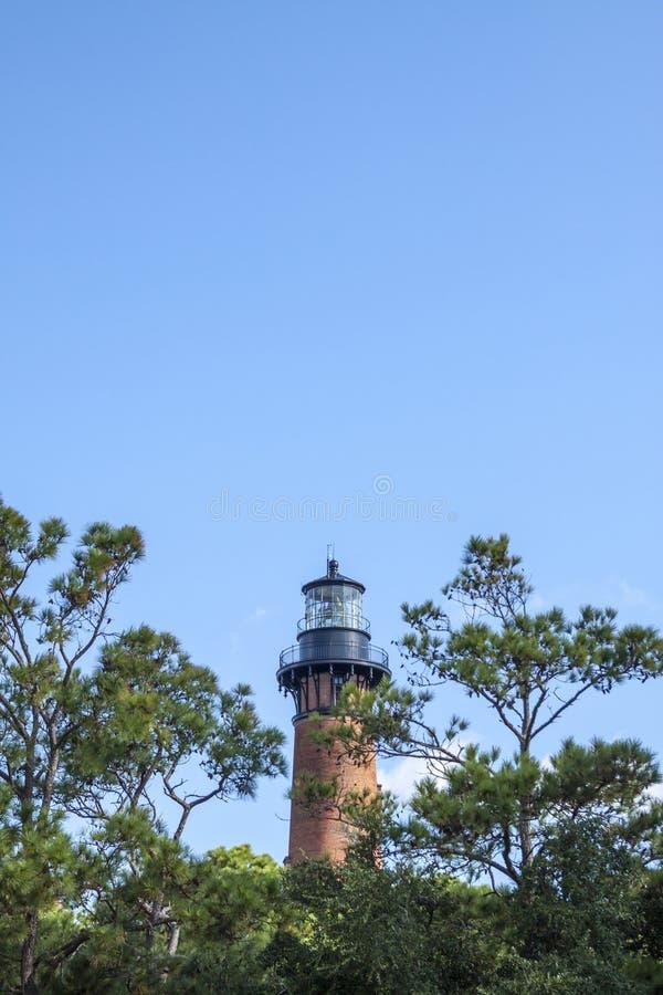 Currituck海滩灯塔 库存图片