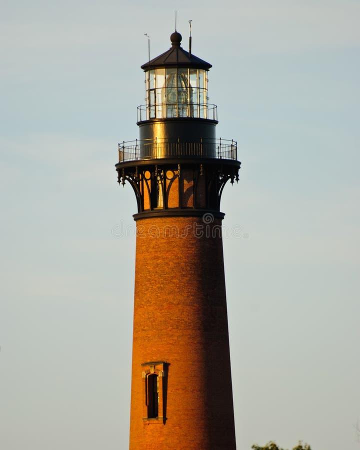 Currituck latarnia morska w Currituck, Pólnocna Karolina Zewnętrzni banki zdjęcie stock