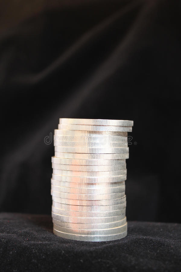 Currrency pile stock images