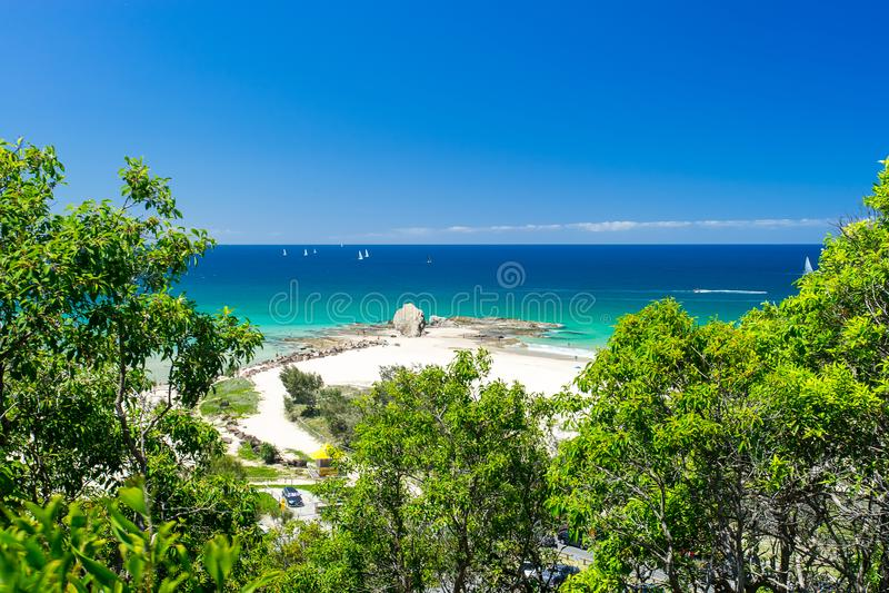 Currumbin gränd på Goldet Coast i Queensland, Australien arkivbilder