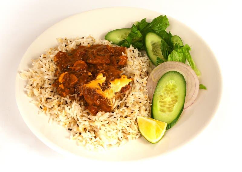 Curry 1 del pollo del burro immagini stock libere da diritti