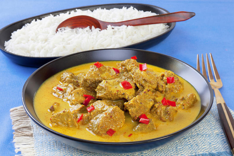 Curry Beef Madras Royalty Free Stock Images