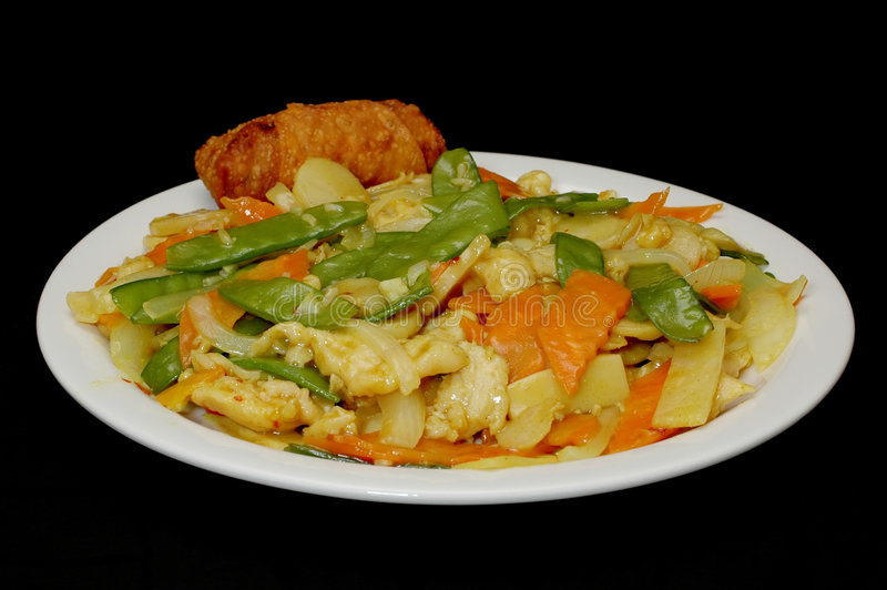 Curry Chicken and Egg Roll