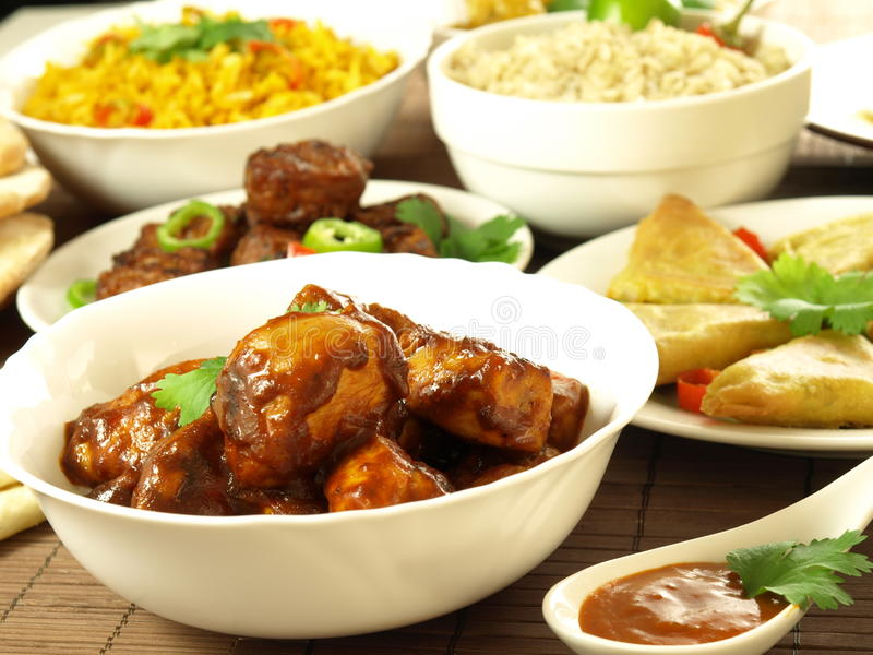 Download Curry chicken masala stock image. Image of chicken, bhajis - 26067275