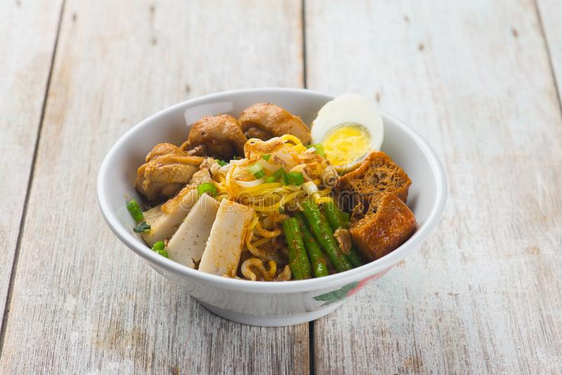 Curry chicken noodle royalty free stock photo