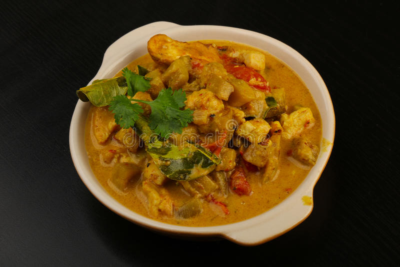 Curry chicken royalty free stock photo