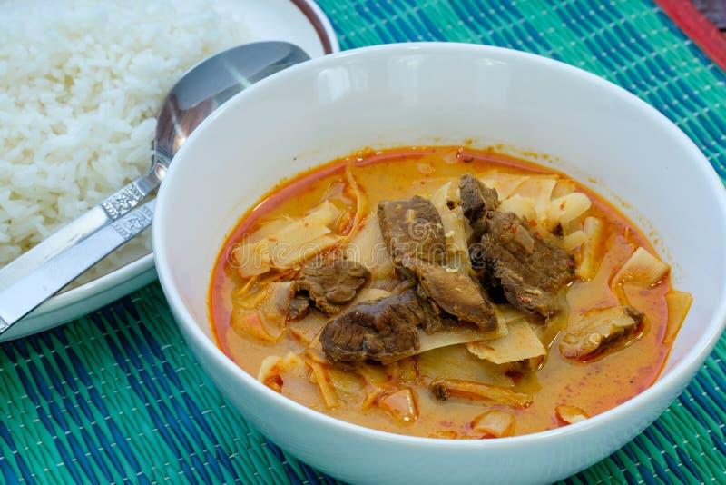 Curry con carne de vaca imagenes de archivo