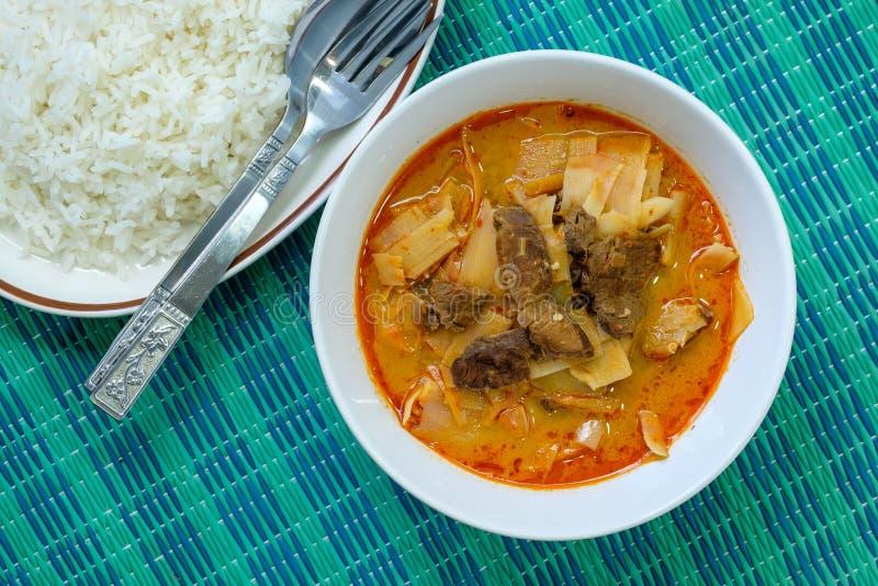 Curry con carne de vaca imagen de archivo