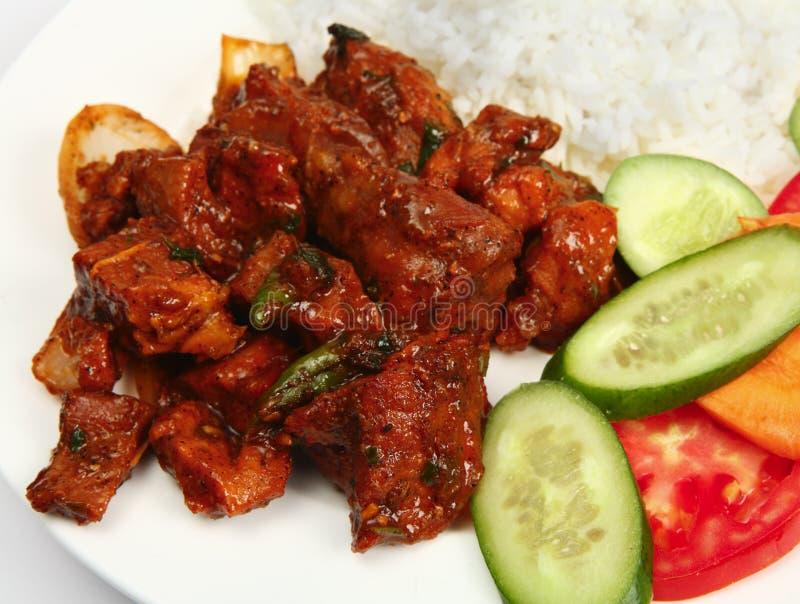 Curry de los chiles de la carne de vaca imagenes de archivo