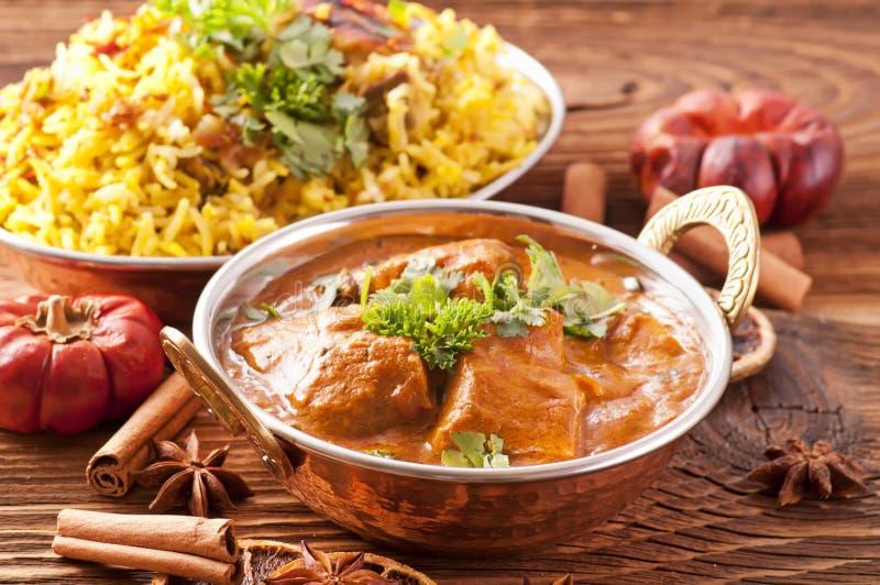 Curry de los pescados fotos de archivo