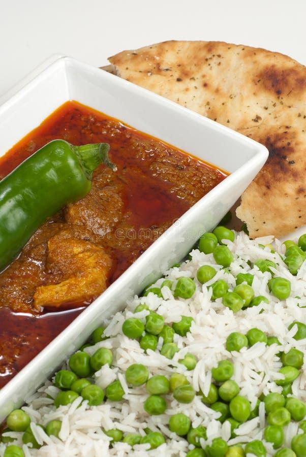 Curry de Madras del pollo imagenes de archivo