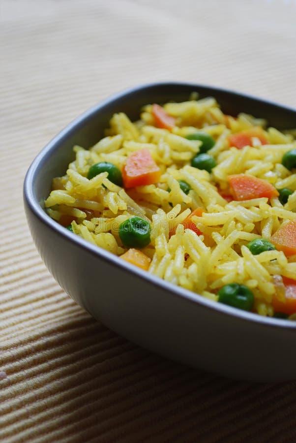 Curry del arroz Basmati fotografía de archivo