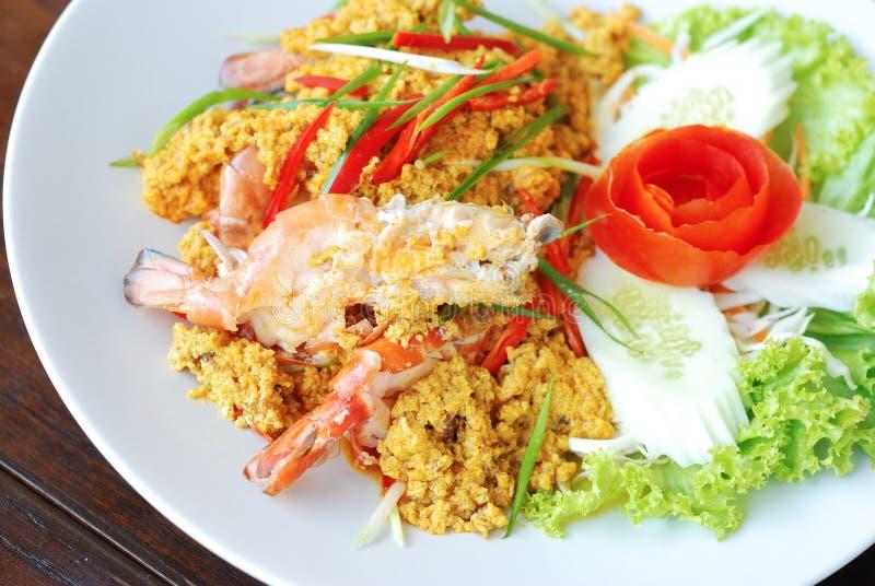 Curry del camarón fotos de archivo