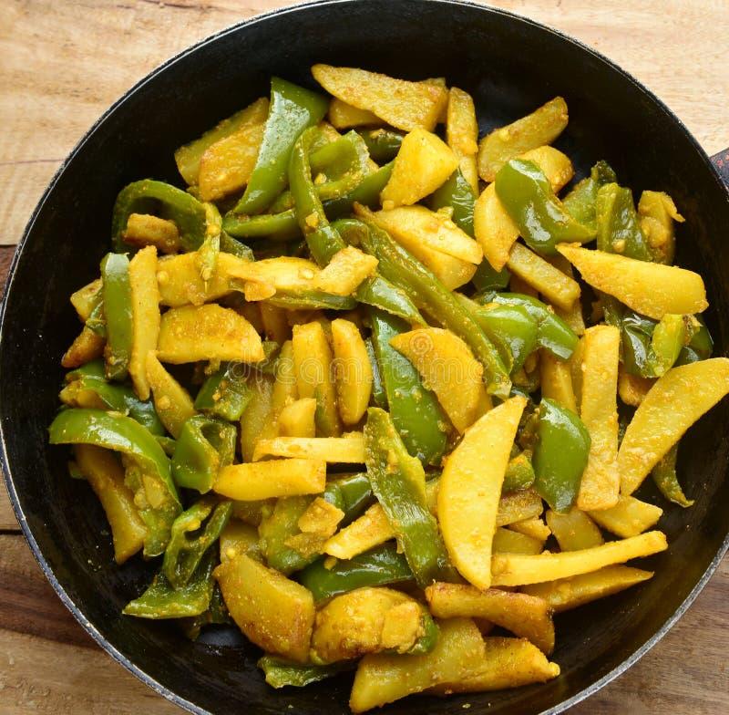 Curry del capsico della patata fotografia stock libera da diritti