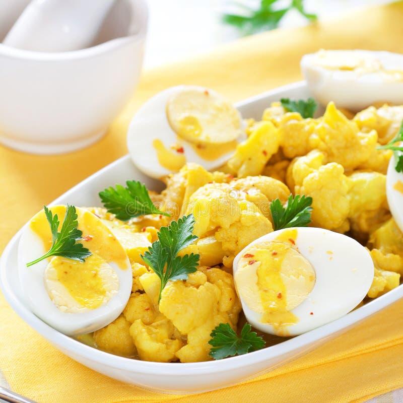 Curry del cavolfiore fotografia stock