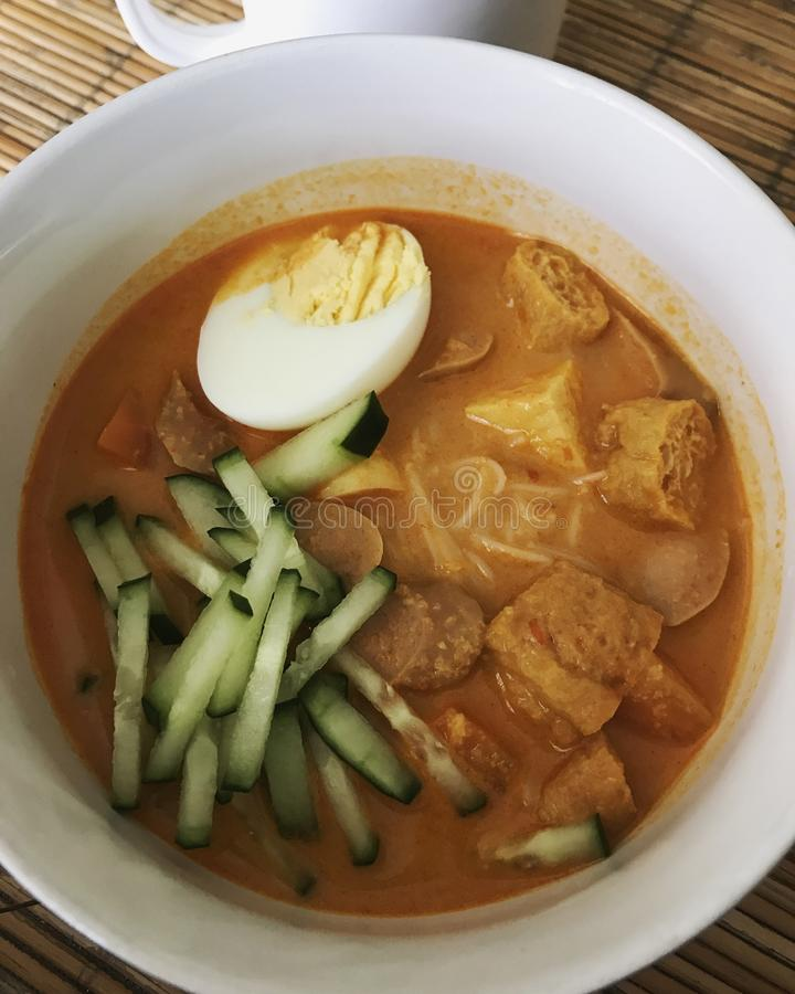 Curry del hoon di Mee immagine stock