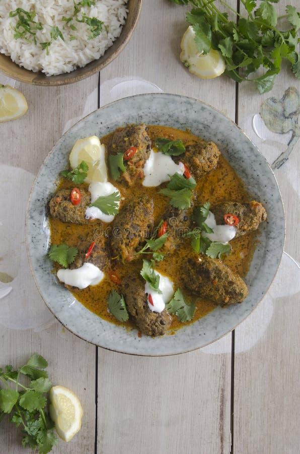 Curry del kofta de la carne de vaca fotos de archivo libres de regalías