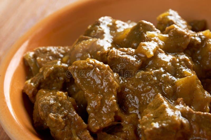 Curry del manzo con riso immagine stock