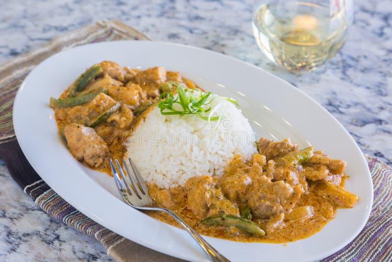 Curry del panang del pollo fotografia stock