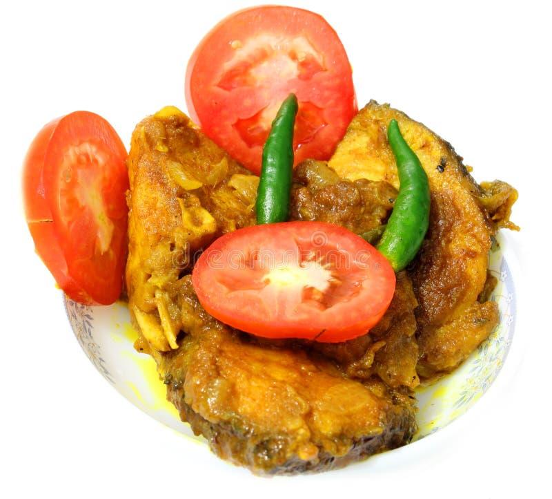 Curry del pesce con il pomodoro & Chillis fotografia stock libera da diritti
