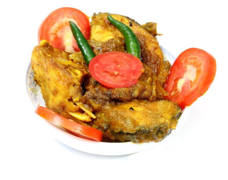 Curry del pesce di chillis del pomodoro fotografia stock