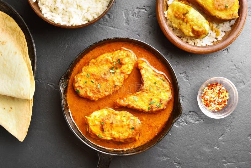 Curry del pesce fotografia stock libera da diritti
