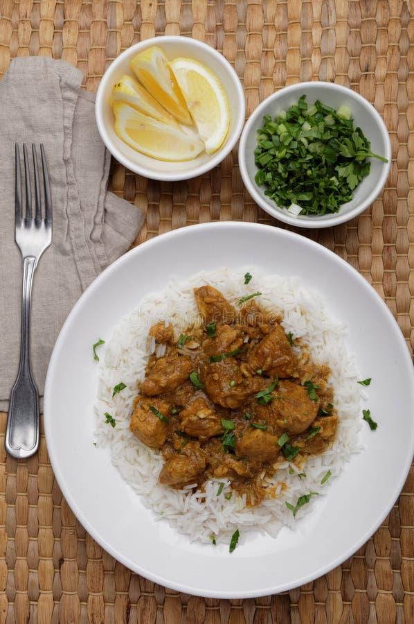 Curry del pollo immagini stock