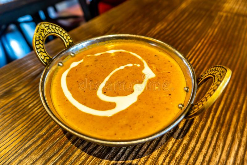 Curry del pollo del burro immagini stock libere da diritti