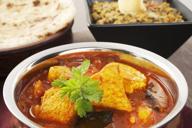 Curry del pollo di Madras fotografia stock
