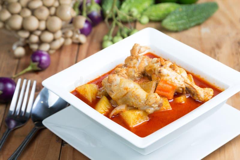 Curry del pollo di Massaman fotografia stock libera da diritti