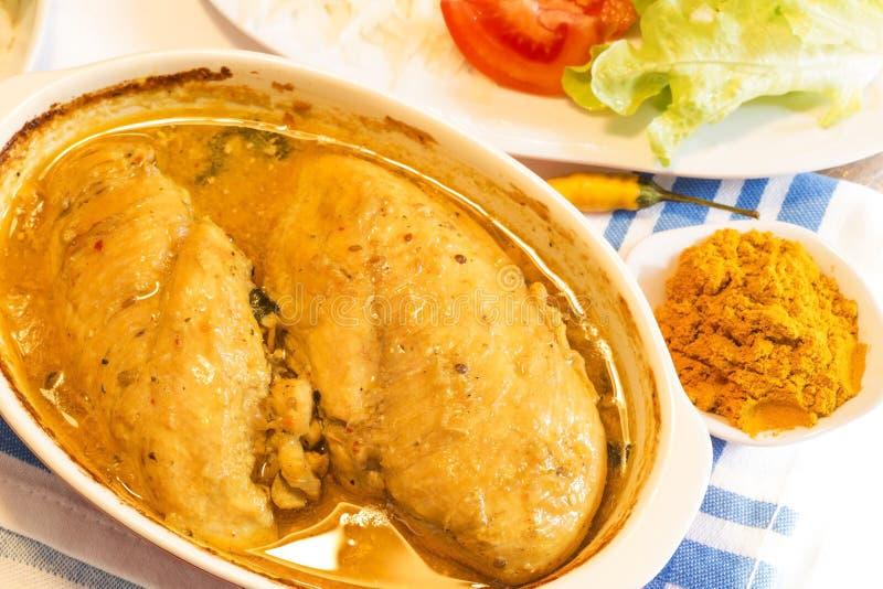 Curry del pollo imagen de archivo