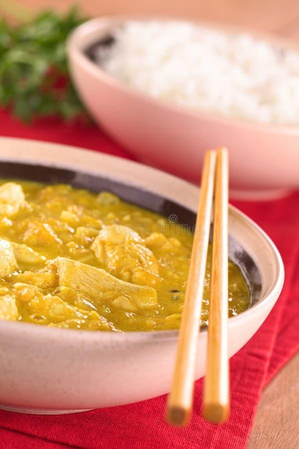 Curry del Pollo-Mango fotografia stock