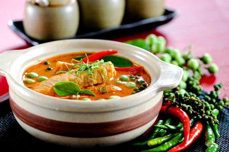 Curry del porco fotografia stock