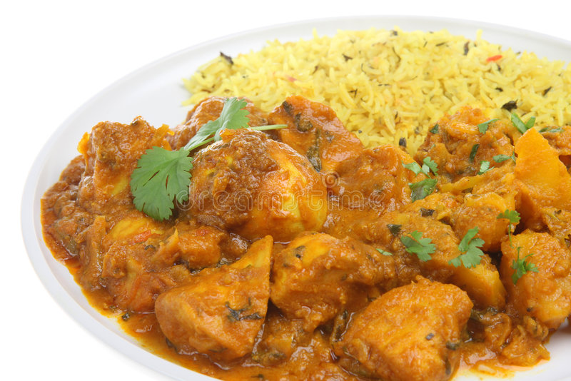 Curry dell'indiano del Bengala del pollo immagine stock