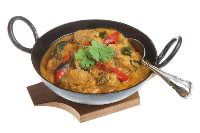 Curry dell'indiano di Korma dell'agnello fotografie stock libere da diritti