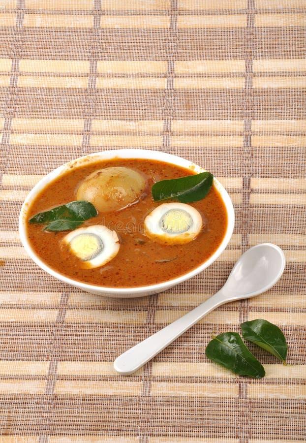 Curry dell'uovo fotografia stock